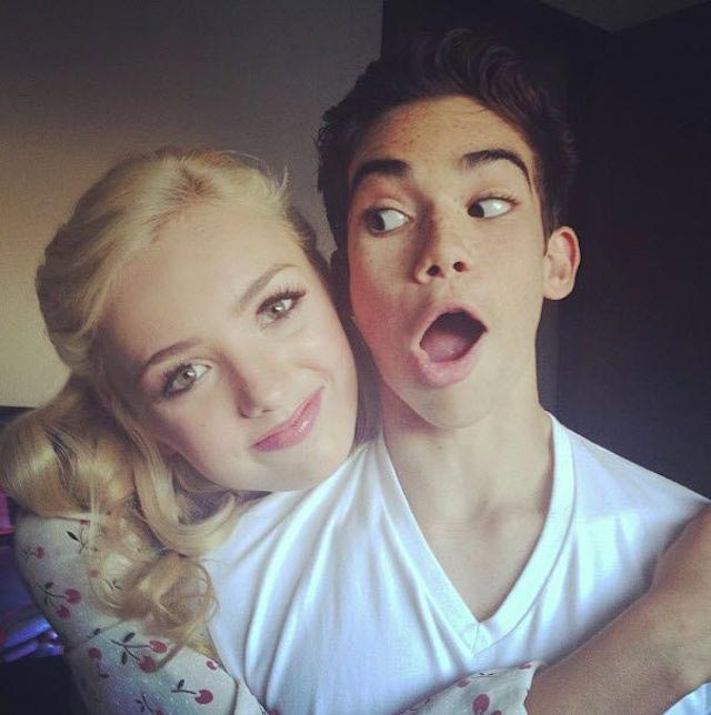 Images Of Cameron Boyce And Peyton List Kissing Rock Cafe